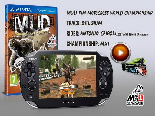 MUD: FIM Motocross World Championship. Демонстрация геймплей чемпионата Бельгии для PS Vita.