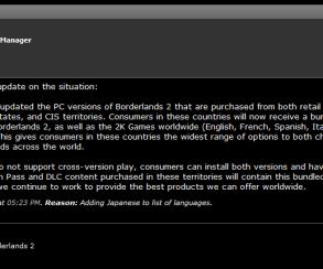 Российским владельцам Borderlands 2 выдадут английскую версию