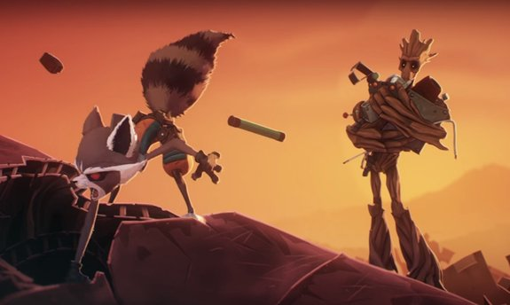 В Сети появился короткий мультфильм про Реактивного енота и Грута - Изображение 1