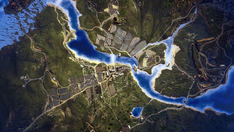 Так выглядит карта The Witcher 3 из космоса - Изображение 1