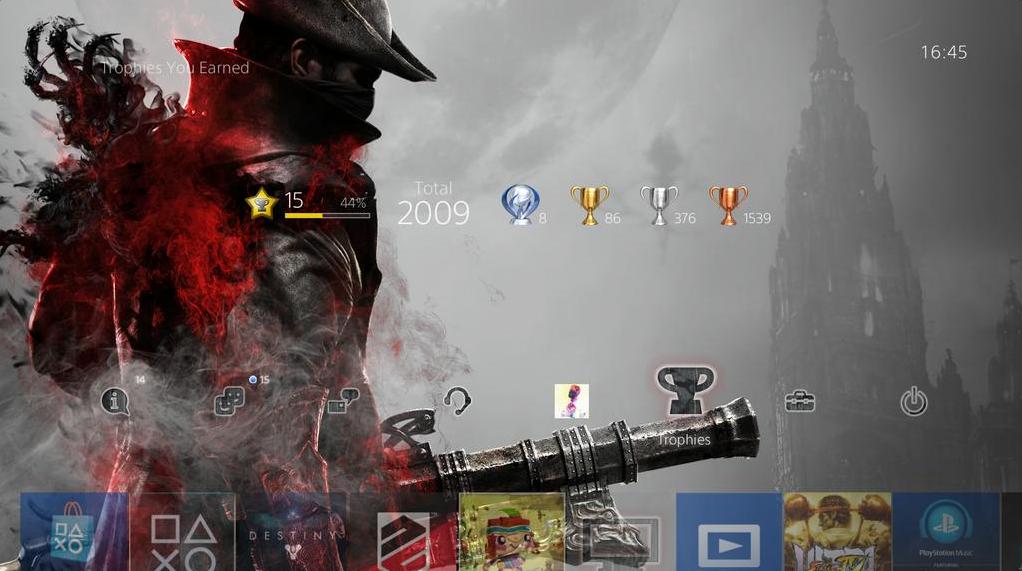 Эксклюзивная PS4-тема за «платиновый трофей» в Bloodborne - Изображение 1