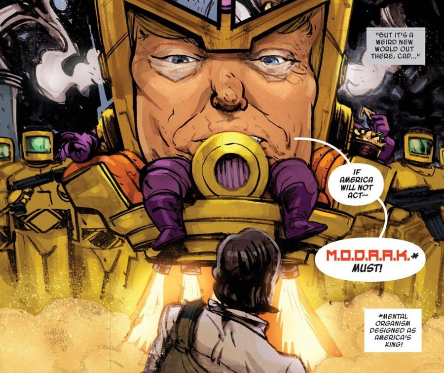 Дональд Трамп появился в комиксах в виде нелепого злодея MODAAKа. - Изображение 3