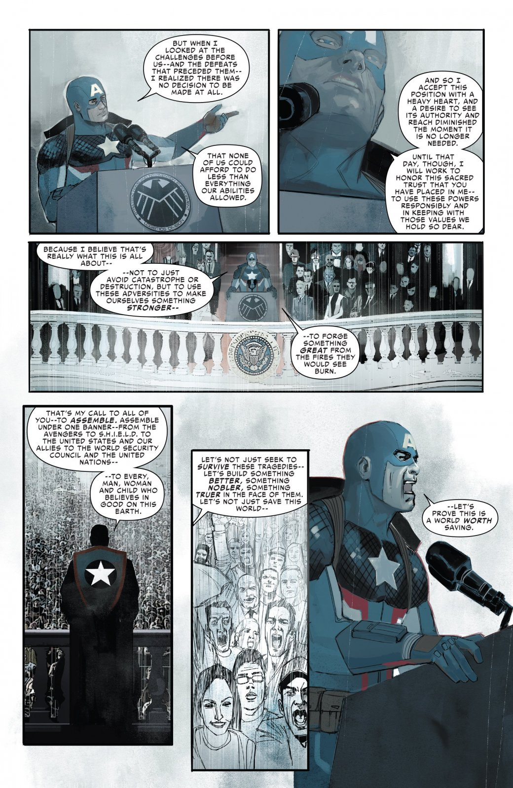 В эпилоге Civil War II Капитан Америка-агент Гидры стал главой ЩИТ - Изображение 6