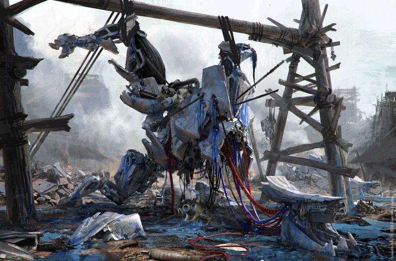 Прекрасные концепты Horizon: Zero Dawn отхудожников «Игры престолов» - Изображение 24