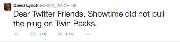 Дэвид Линч не будет снимать продолжение сериала «Твин Пикс» - Изображение 1