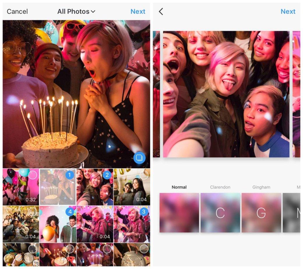 Как делают несколько фото в одной в инстаграм