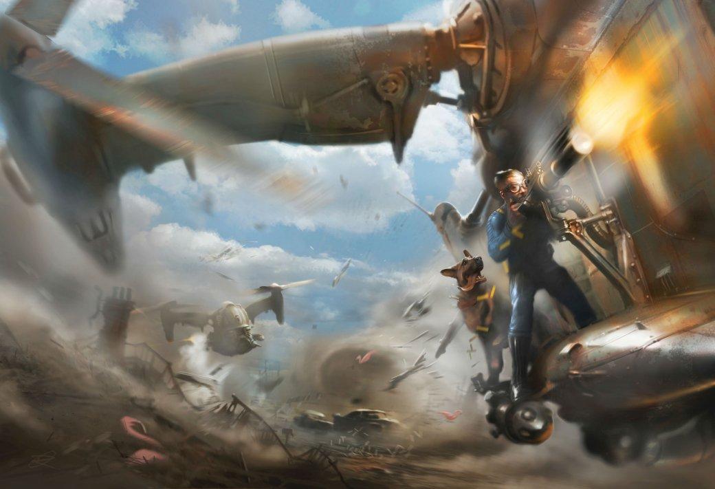 Женщина, собака и пулемет на борту в новом арте и скринах Fallout 4 - Изображение 3