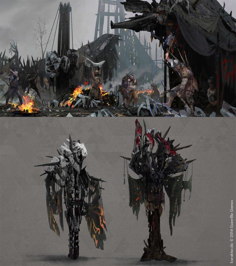 Прекрасные концепты Horizon: Zero Dawn отхудожников «Игры престолов» - Изображение 27