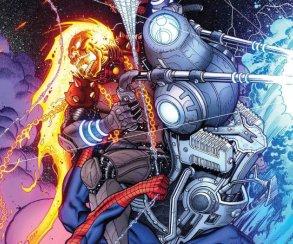 Космический Призрачный гонщик против вселенной Marvel. Правда, пока только навариативных обложках