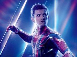 Человек-паук щелкает Перчаткой бесконечности нафанатском арте