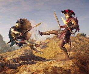 Гифка дня: спартанец отправляется вполет вAssassin's Creed Odyssey