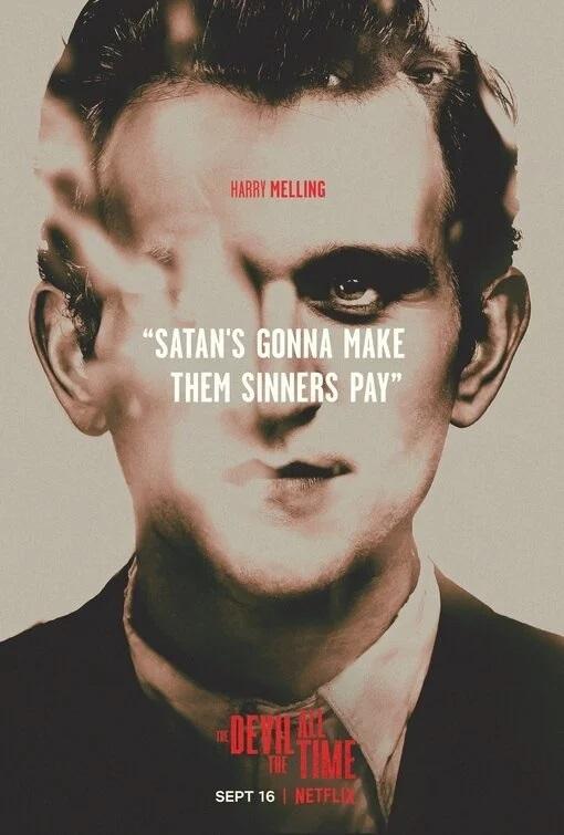 У «Дьявола навсегда» сТомом Холландом иРобертом Паттинсоном появилась серия стильных постеров | Канобу - Изображение 2228