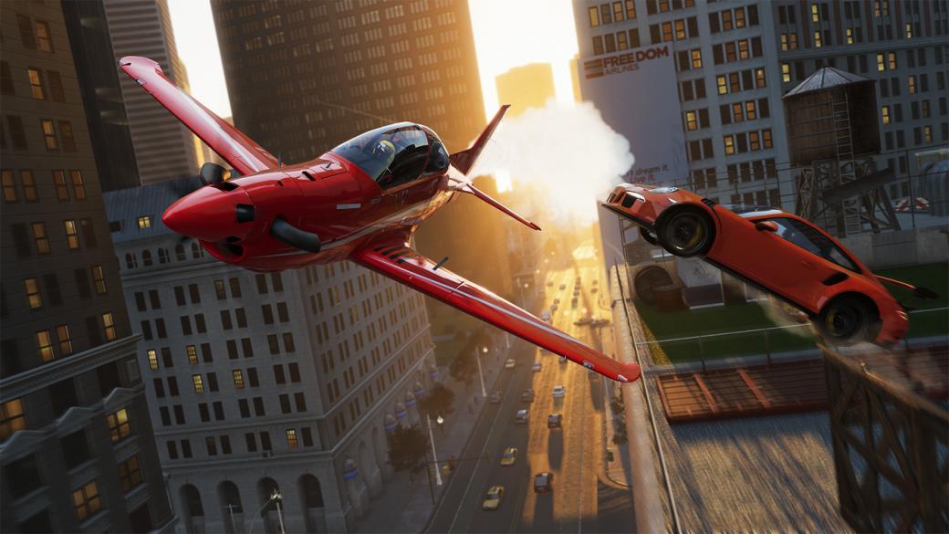 Суть. The Crew 2 — спорная гонка, где в воздухе можно сменить самолет на катер. - Изображение 1