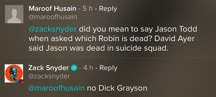 В«Лиге Справедливости» Снайдера могут больше рассказать осмерти Робина | Канобу - Изображение 1131