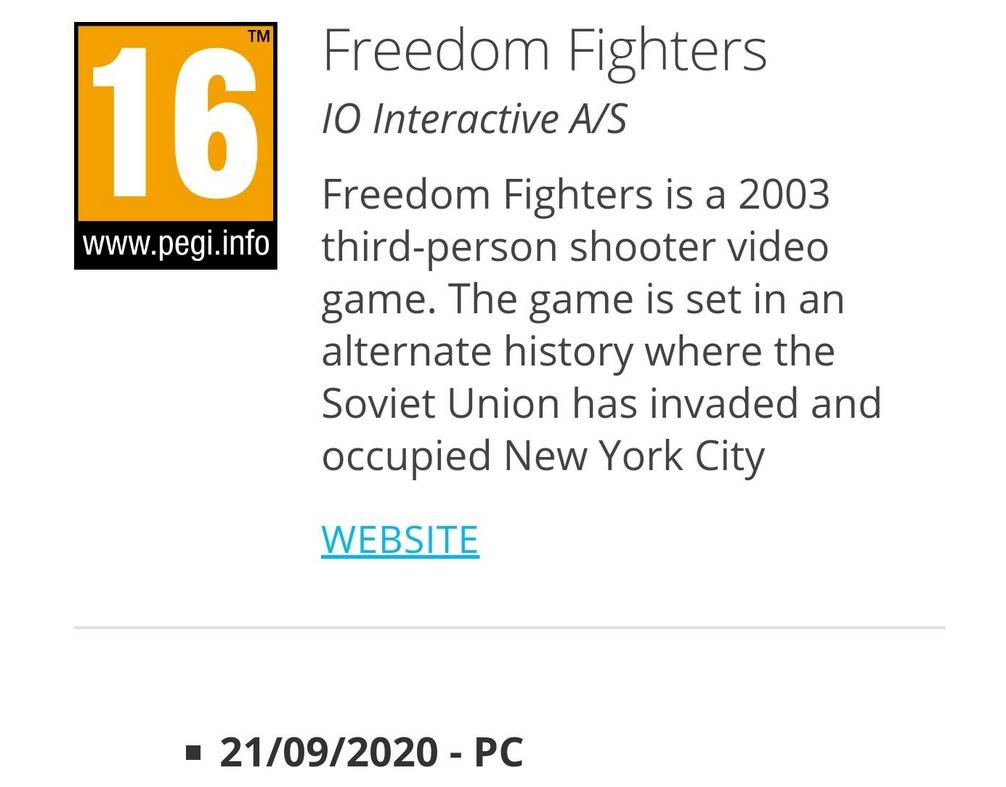 Freedom Fighters может получить переиздание. Доказательство нашли всети [Обновлено]   Канобу - Изображение 8791