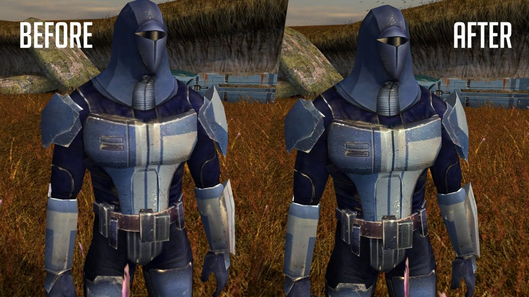 Фанатский мод для Knights ofthe Old Republic значительно улучшает внешний вид персонажей | Канобу - Изображение 2
