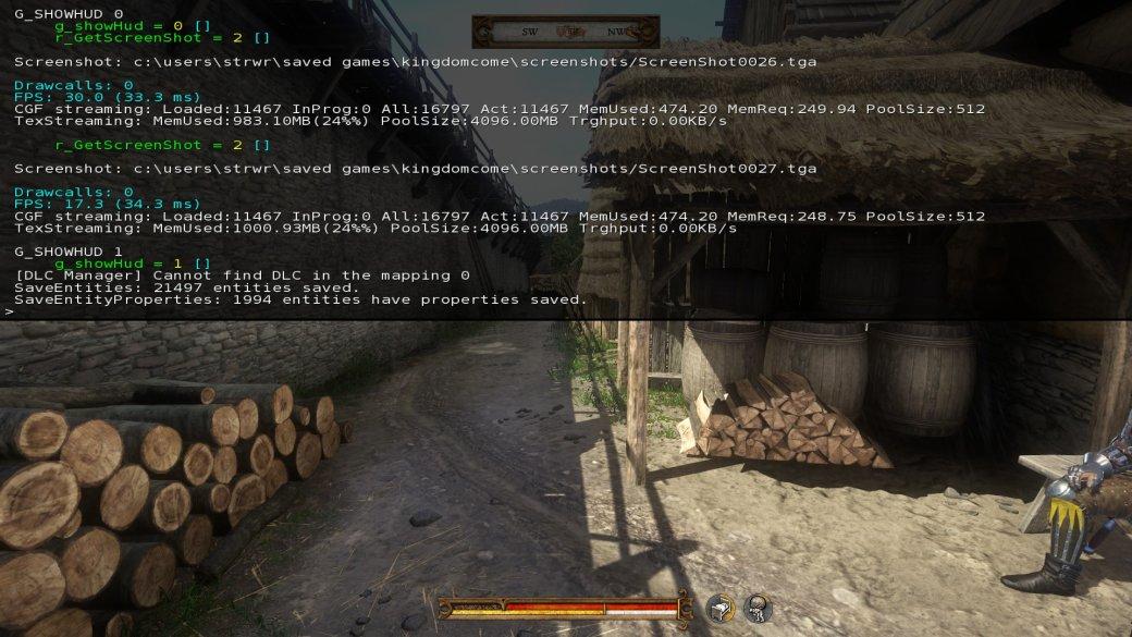 Гайд. Полезные консольные команды вПК-версии Kingdom Come: Deliverance. - Изображение 1