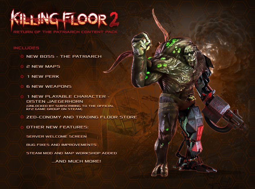 В Killing Floor 2 появится платная косметика, Патриарх вернется в игру   Канобу - Изображение 2