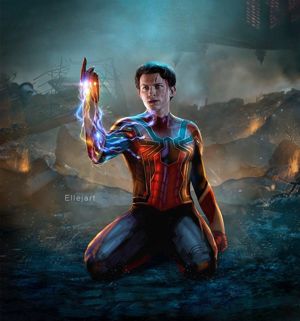 Человек-паук щелкает Перчаткой бесконечности нафанатском арте | Канобу - Изображение 1