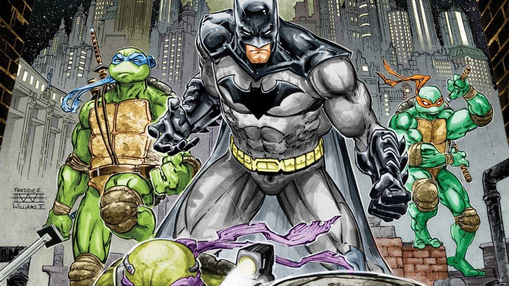 Темный рыцарь сражается сКланом Ноги вновом отрывке из«Бэтмена против Черепашек-ниндзя» | Канобу - Изображение 1