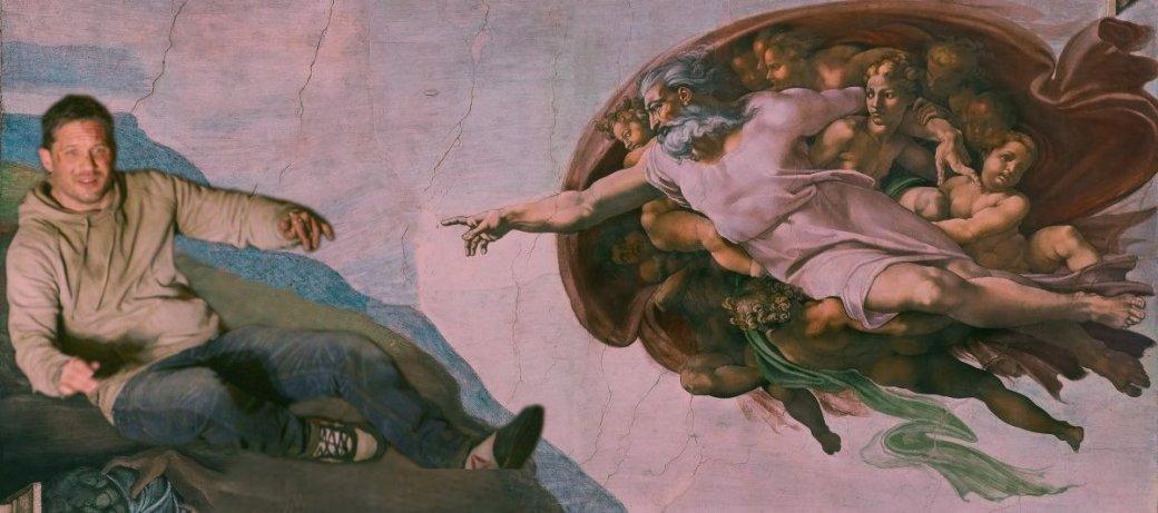 Том Харди присел наасфальт вовремя съемок «Венома»— истал героем фотожаб | Канобу - Изображение 12