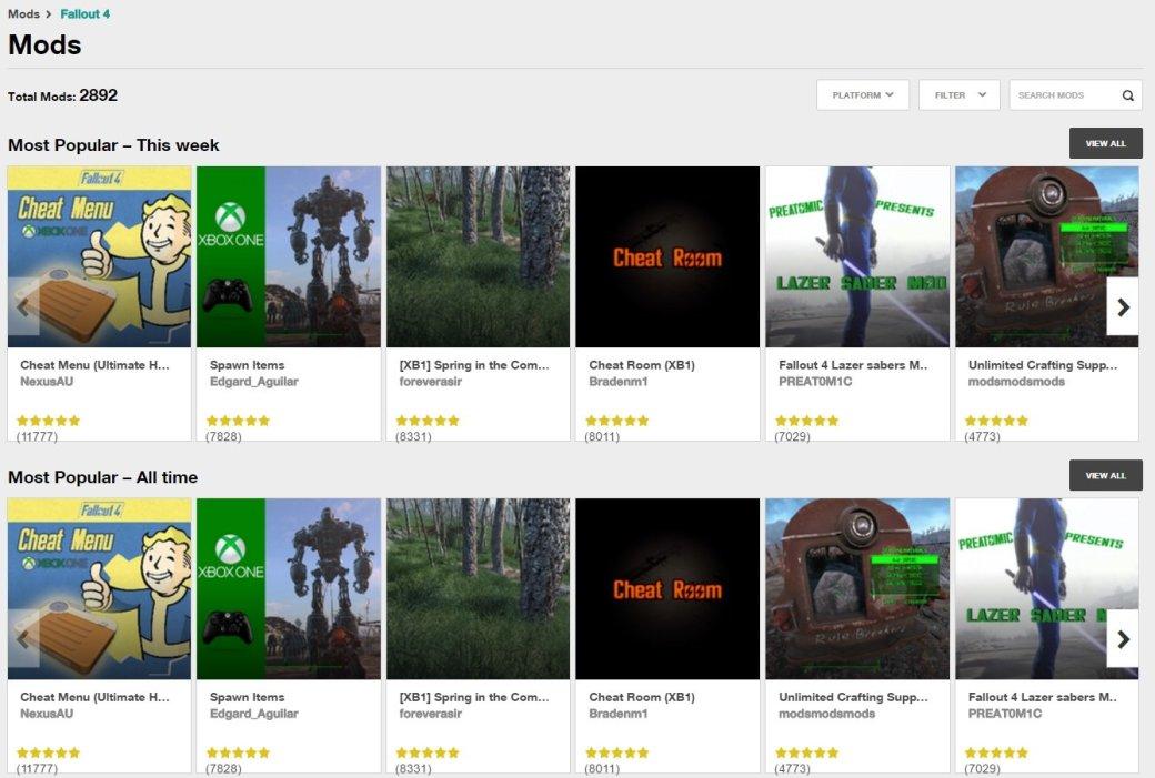 Bethesda разбирается с крадеными модами для Fallout 4 | Канобу - Изображение 8361