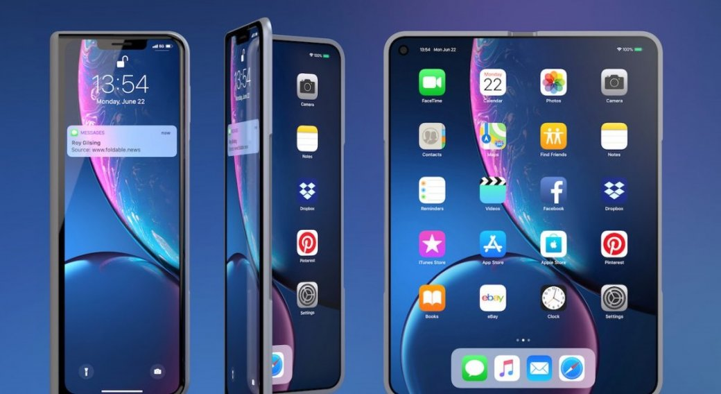 ВСети появились рендеры складного смартфона iPhone XFold | SE7EN.ws - Изображение 1